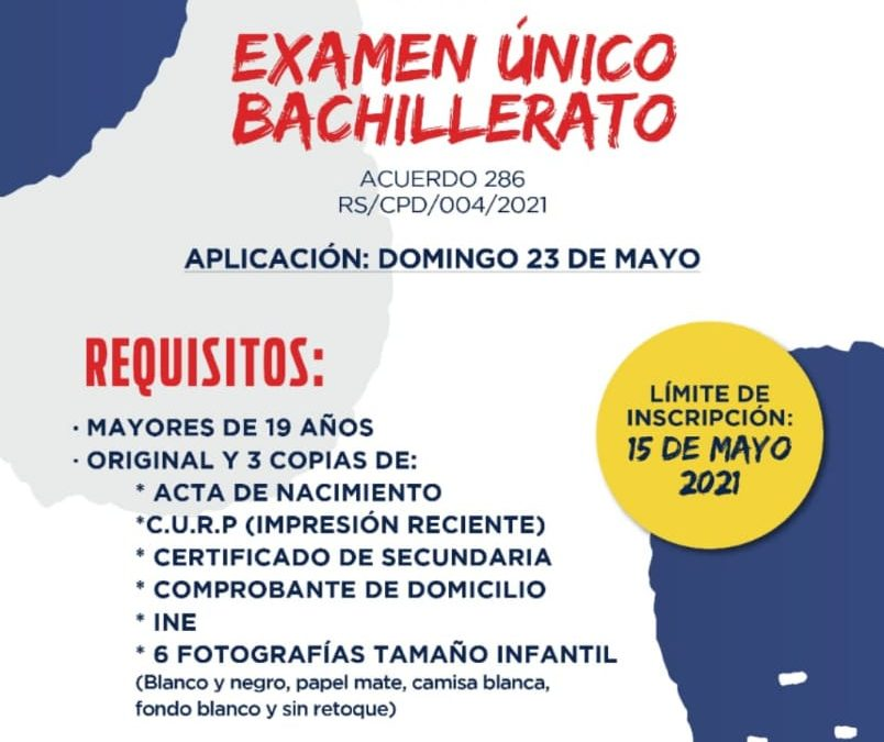 EXAMEN ÚNICO DE BACHILLERATO