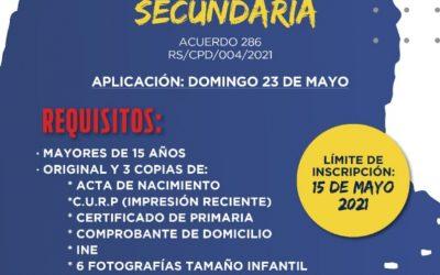 EXAMEN ÚNICO DE SECUNDARIA